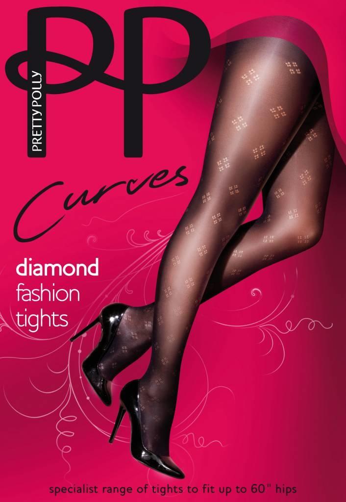 """Pretty Polly Pretty Polly """"Curves"""" Dot Diamond Fashion Tights"""