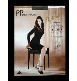 "Pretty Polly 10D. ""Nylons"" gloss Backseam Tights"