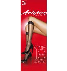 Aristoc 10D. Shine Kneehighs (3 pair)
