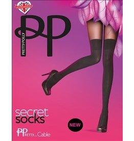 Pretty Polly Secret Socks Cable Tights