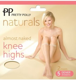 Pretty Polly 5D. Almost Naked sideria Kneehighs (2 pair)
