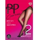 "Pretty Polly Pretty Polly 10D. glans ""Nylons"" XL Tights"