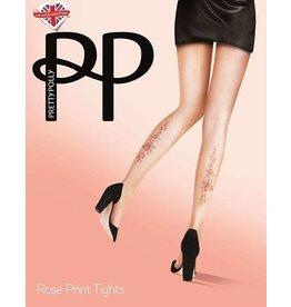 Pretty Polly Rose Tattoo Print Tights