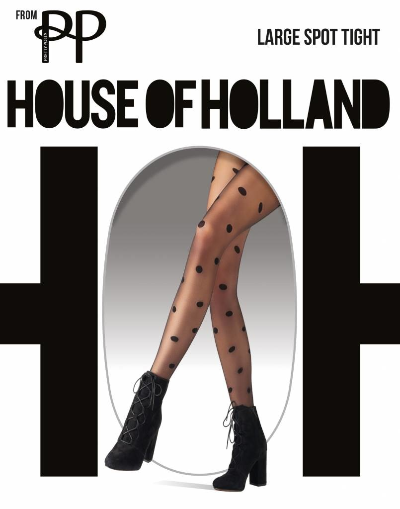 House of Holland Pretty Polly Large Spot Tights