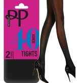 Pretty Polly 40 Denier  Opaque panty in 2 pair pack