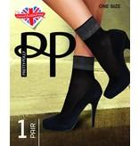 Pretty Polly Pretty Polly Sheer Luxury Welt sokje met breed lurex boordje