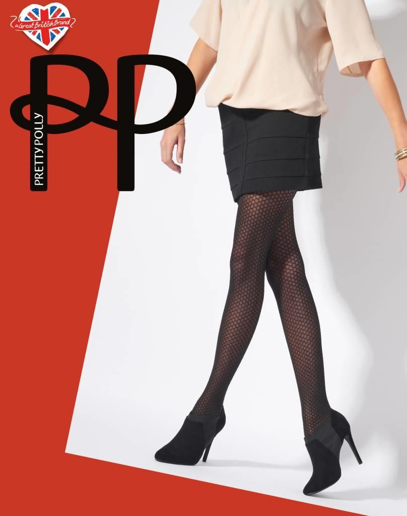 Pretty Polly Pretty Polly Diamond Tights - Zwart - 1 Size