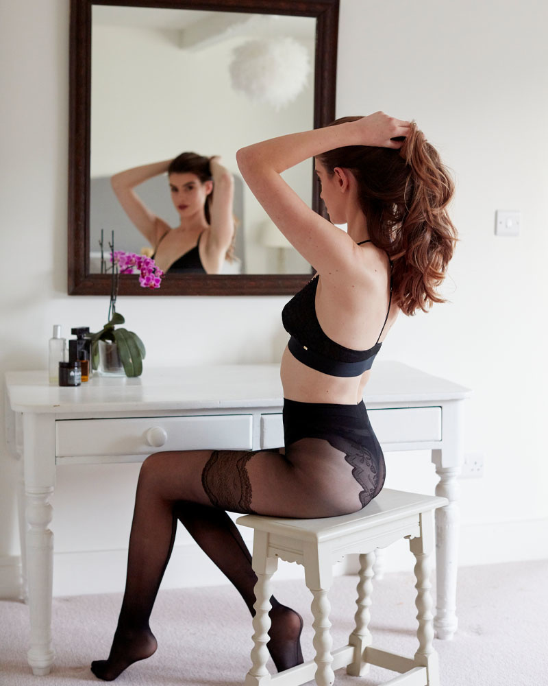 """Pretty Polly """"Flirty"""" Backseam Tights met with Body detail"""
