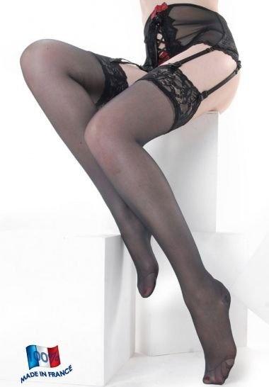 Clio Clio Nylon Suspender Stockings with Lace Top