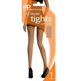 Pretty Polly 15D. lycra Tights in XL