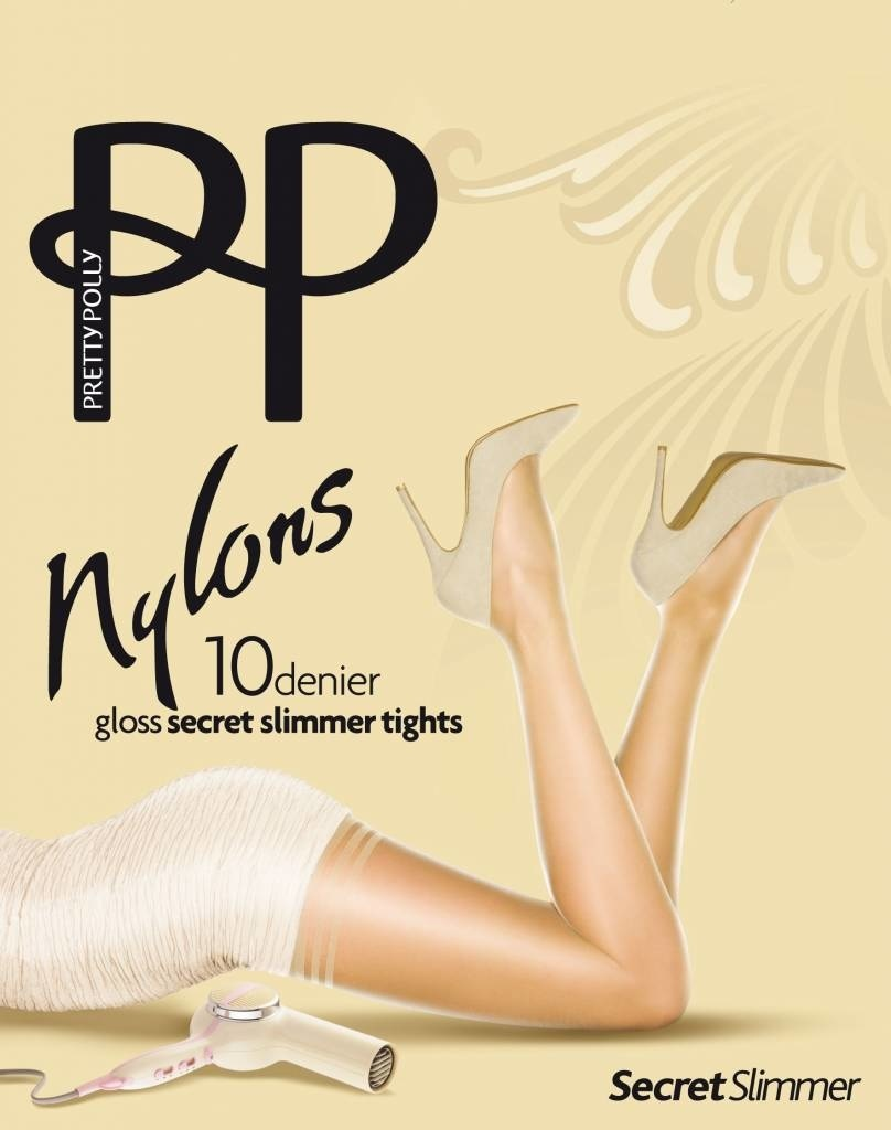 """Pretty Polly 10D. """"Nylons"""" secret slimmer Tighs with shapewear"""