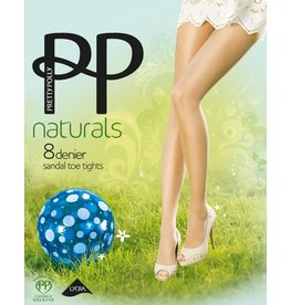 "Pretty Polly Panty met sandal toe in 8D. ""Naturals"" kwaliteit"
