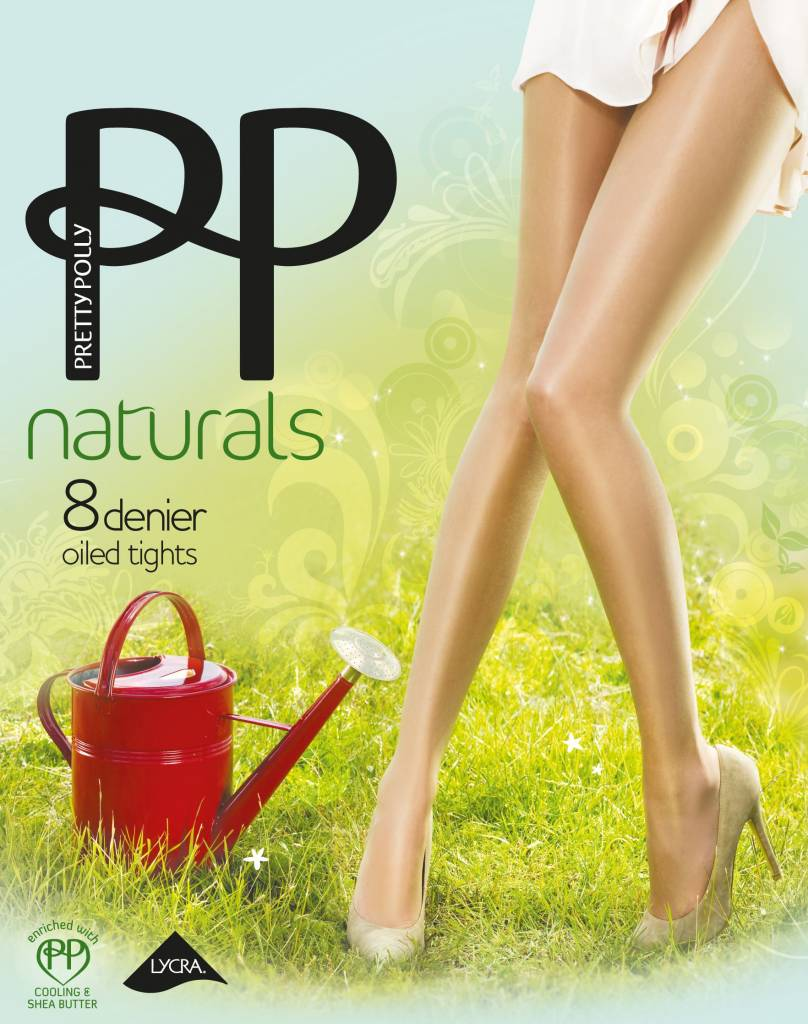 "Pretty Polly 8D. ""Naturals"" Oiled Shine zomerpanty"