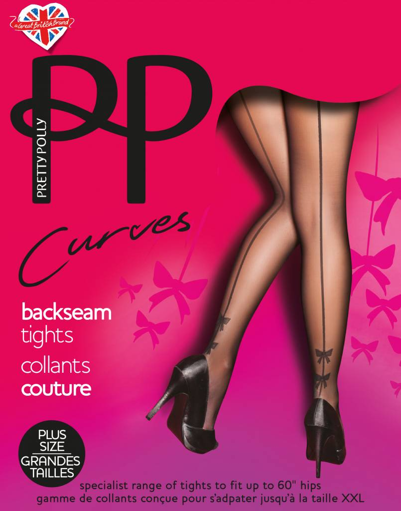 Pretty Polly Backseam Tights with Bow