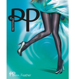 Pretty Polly Pretty Flocked Peacock Tights