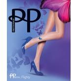 Pretty Polly Butterfly Tattoo Tights met een blauwe vinder op de rechter enkel
