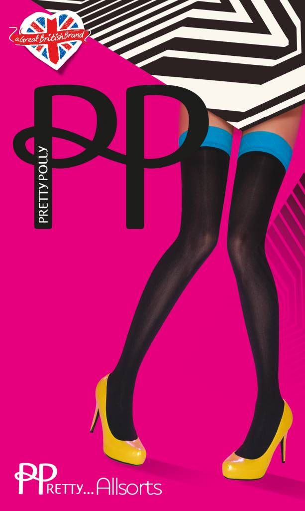 Pretty Polly Coloured Top Opaque Hold Up's