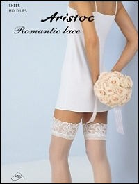 Aristoc 10D. Bridal Hold Ups met Lace Top