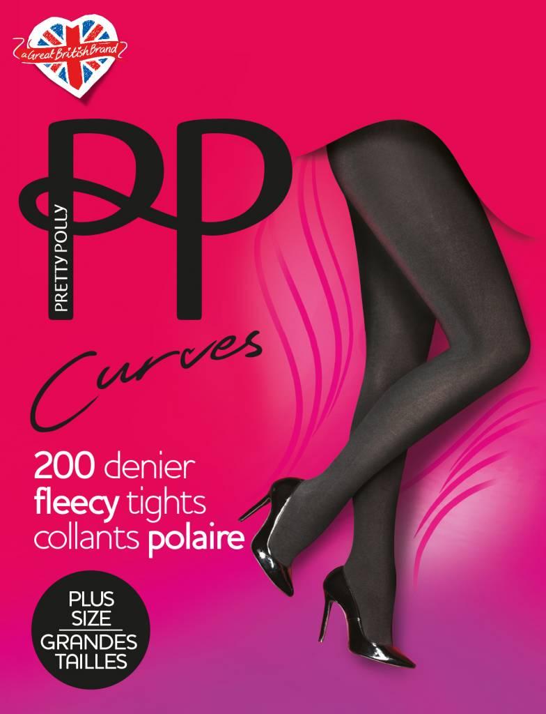 Pretty Polly 200D. Curves Fleecy Tights