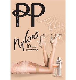 "Pretty Polly 10D. ""Nylons"" glans kousen / Kousen voor jarretelles"