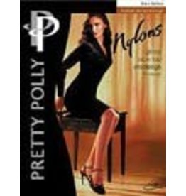 "Pretty Polly 10D. ""Nylons""  jarretelle kousen / stockings met glad boord"