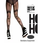 House of Holland Bandana Suspender Tights