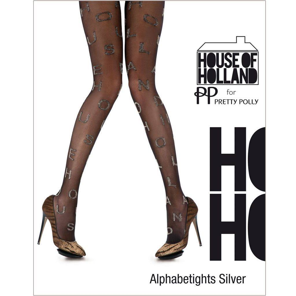 House of Holland Alphabet Silver Panty