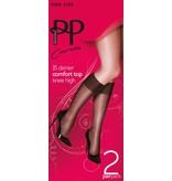Pretty Polly 15D. Comfort Top maatje meer Kniekousjes (2 paar)