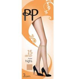 Pretty Polly 15D. Everyday Kneehighs (3 pair)