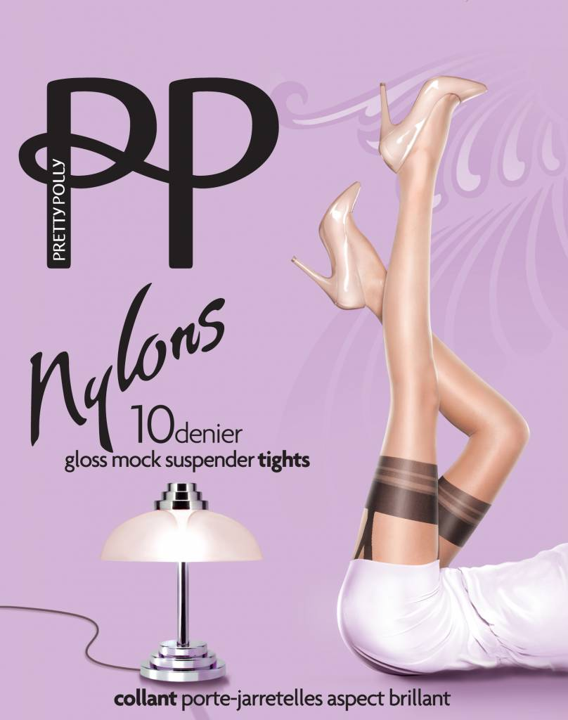"""Pretty Polly 10D. """"Nylons"""" Suspender Panty"""