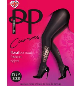 Pretty Polly 40D. Curves Flower Placement Tights