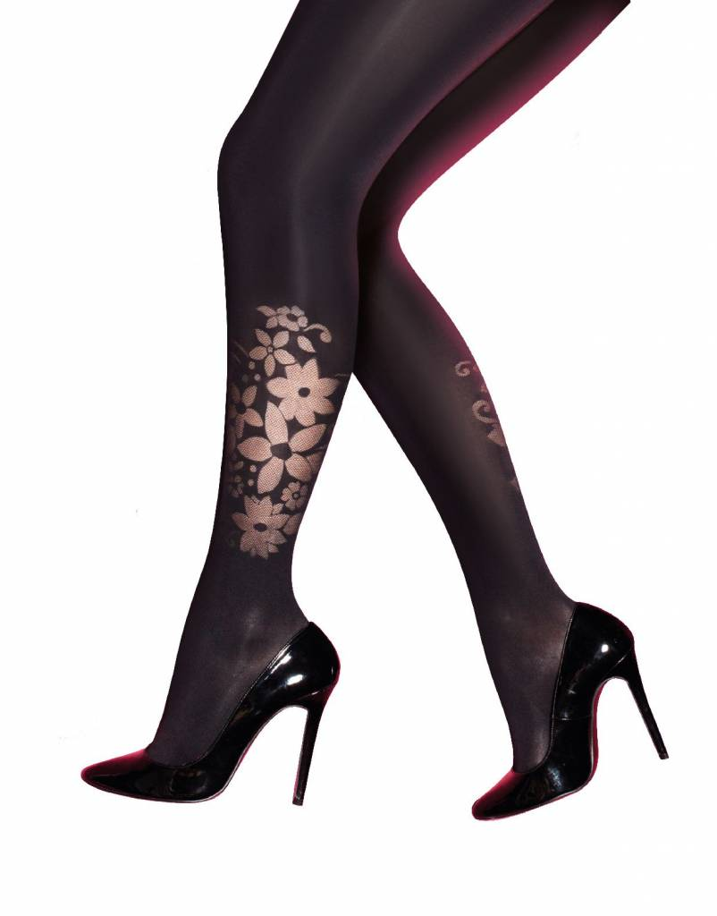 Pretty Polly 40D. Curves Flower Placement Panty