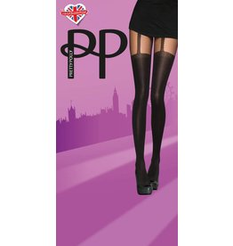 Pretty Polly Opaque Chain Suspender Tights