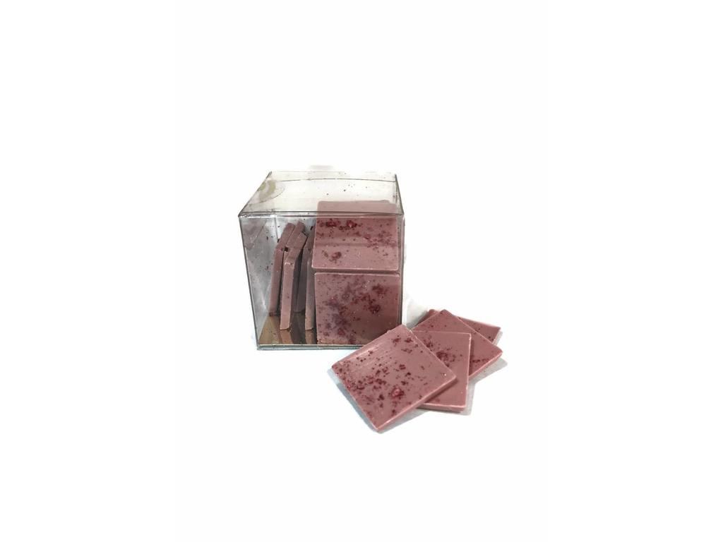 Ruby chocolade met frambozen