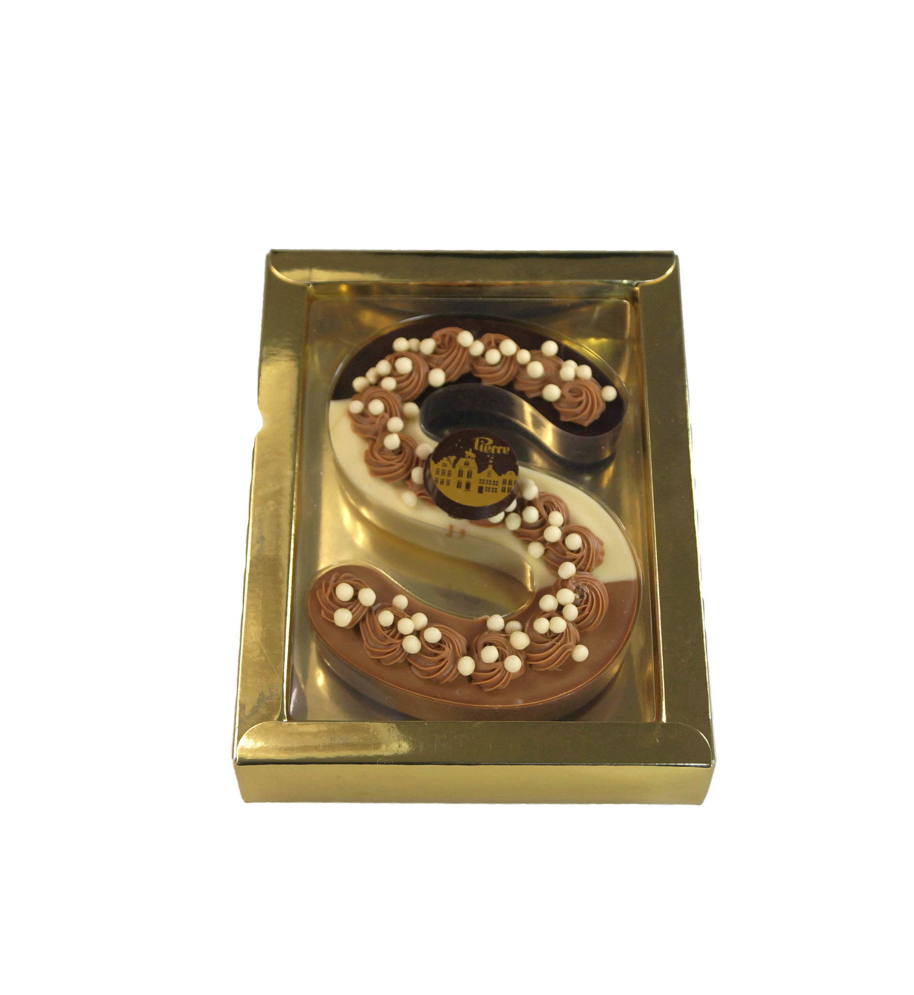 Luxe chocoladeletter Tricolore