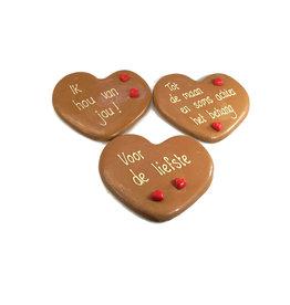 Valentijnshart plat