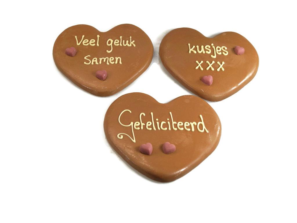Chocoladehart plat