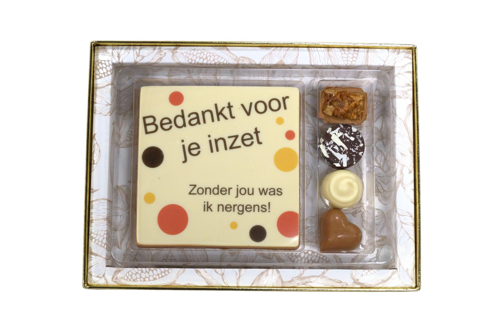 Luxe box Classic met tablet en bonbons Secretaressedag