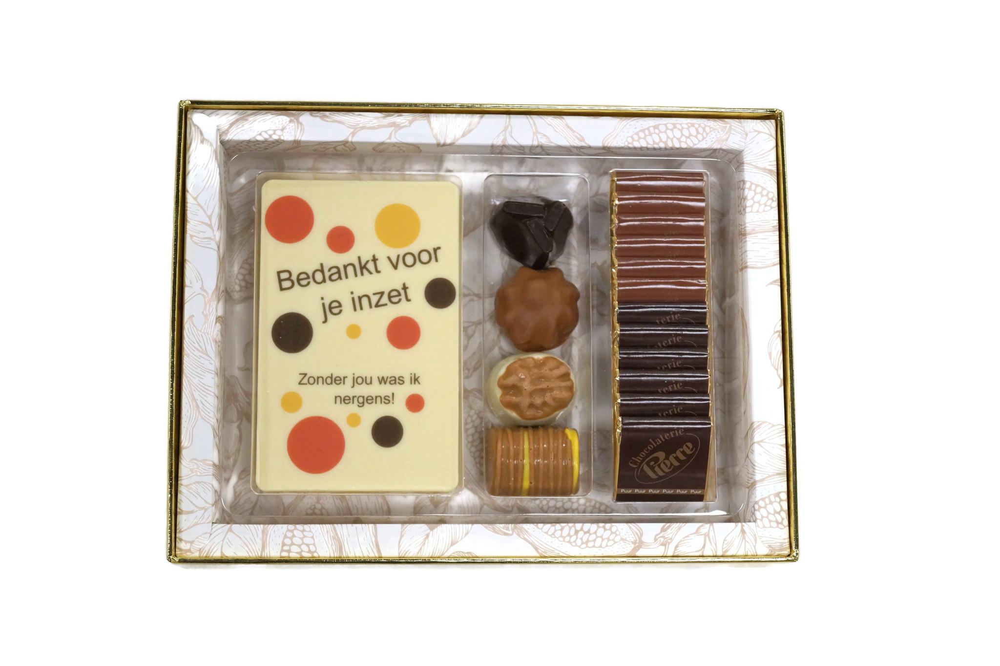 Luxe box Classic bonbons, chocolade en napolitains Secretaressedag