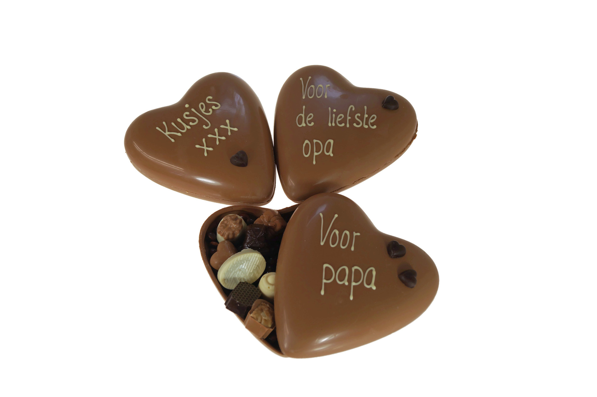 Een heerlijke chocolade Vaderdaghart om van te smullen