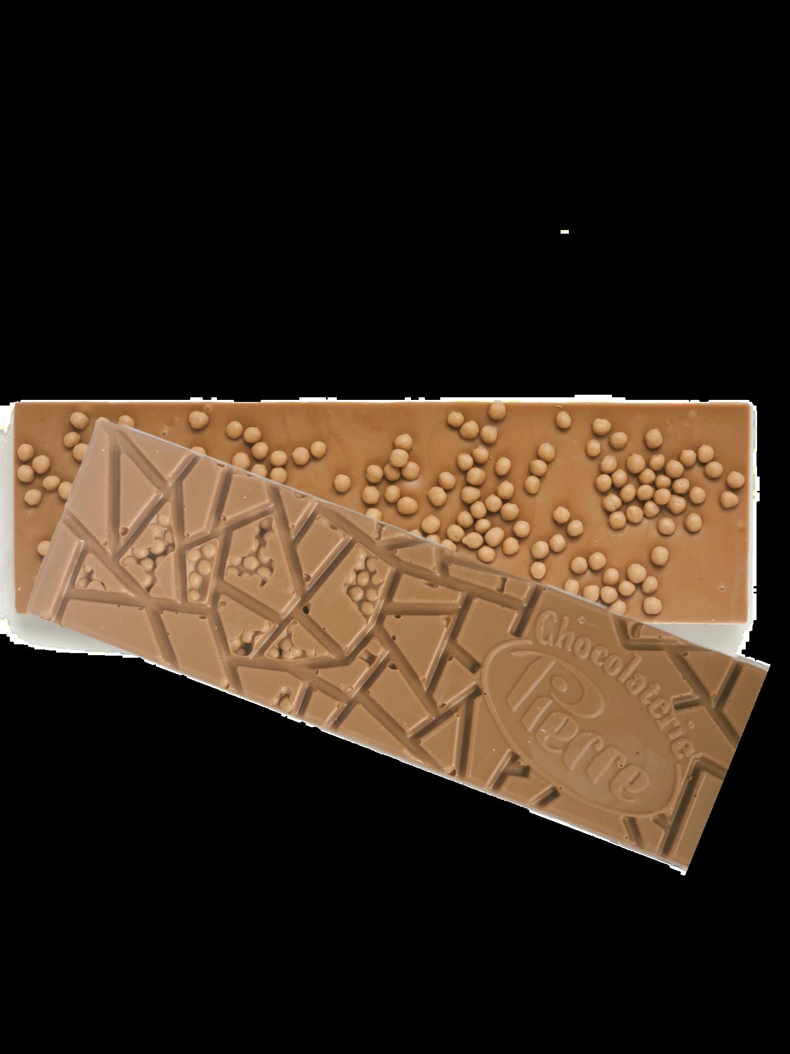 Pierre chocoladereep met crispy salted caramel pearls