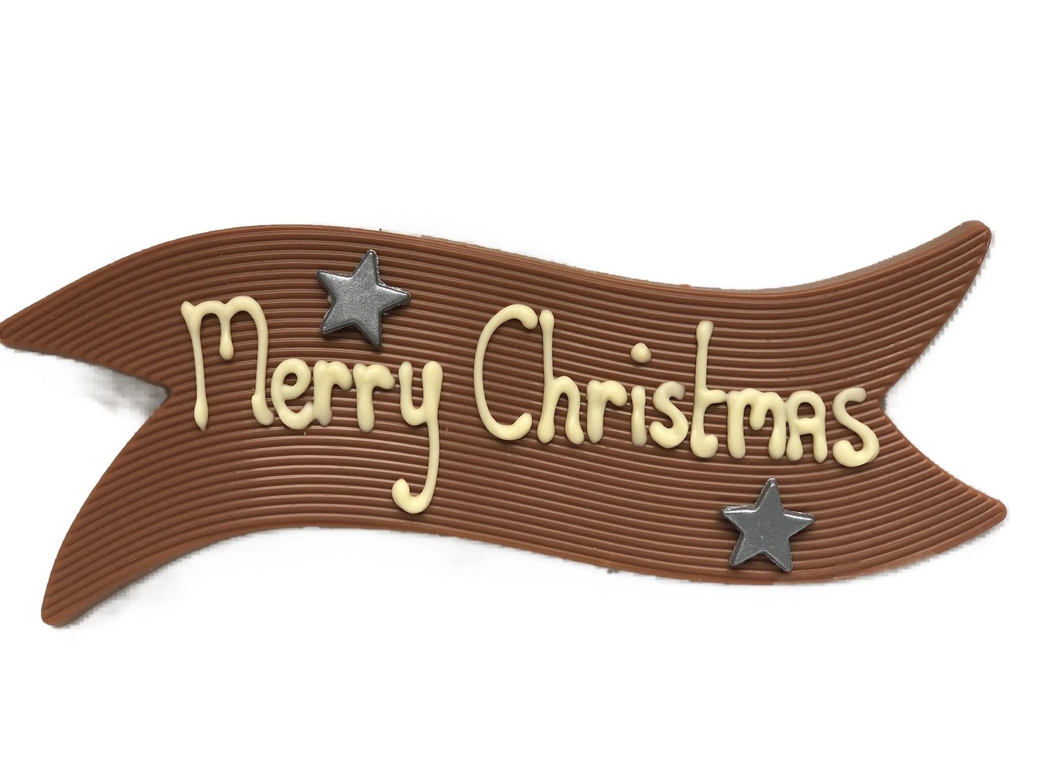 Vaandel van chocolade Kerst