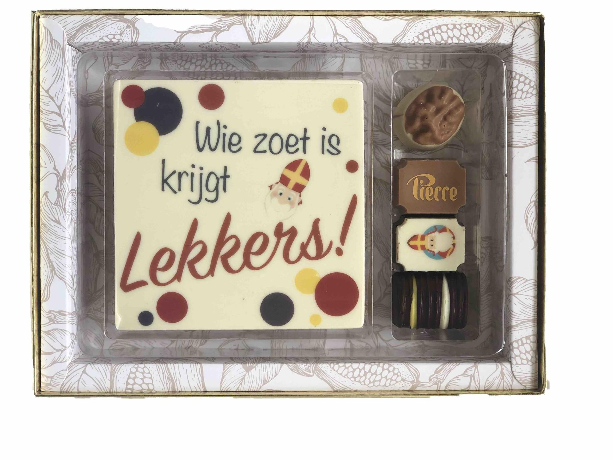 Luxe Sint box met tablet en bonbons