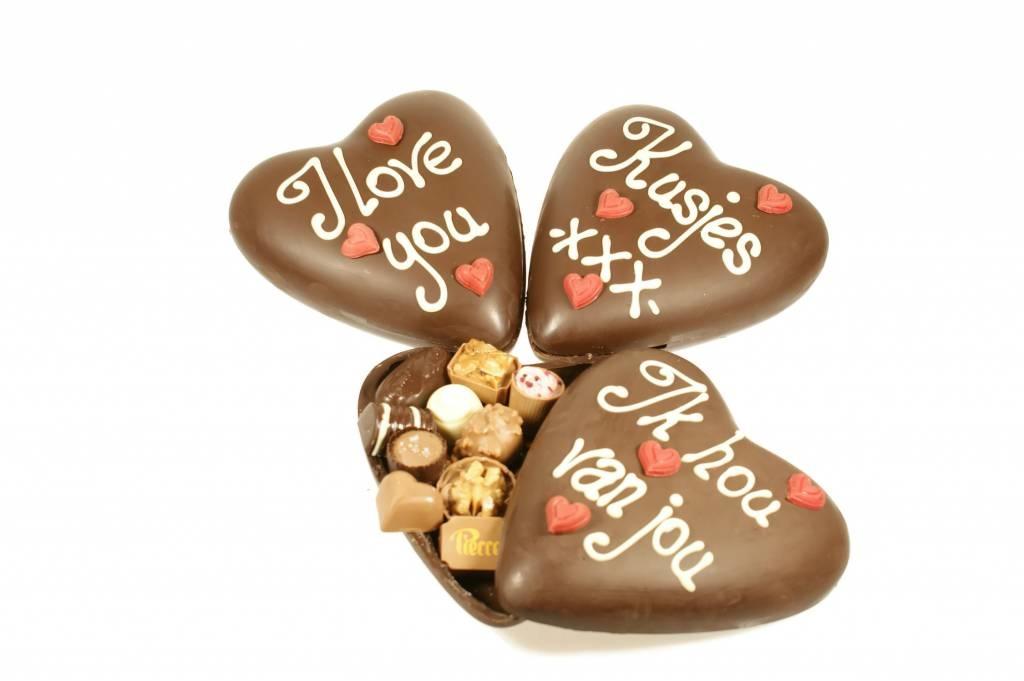 Heerlijke chocolade Valentijnshart om van te smullen