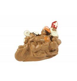 Sint en Piet op motor