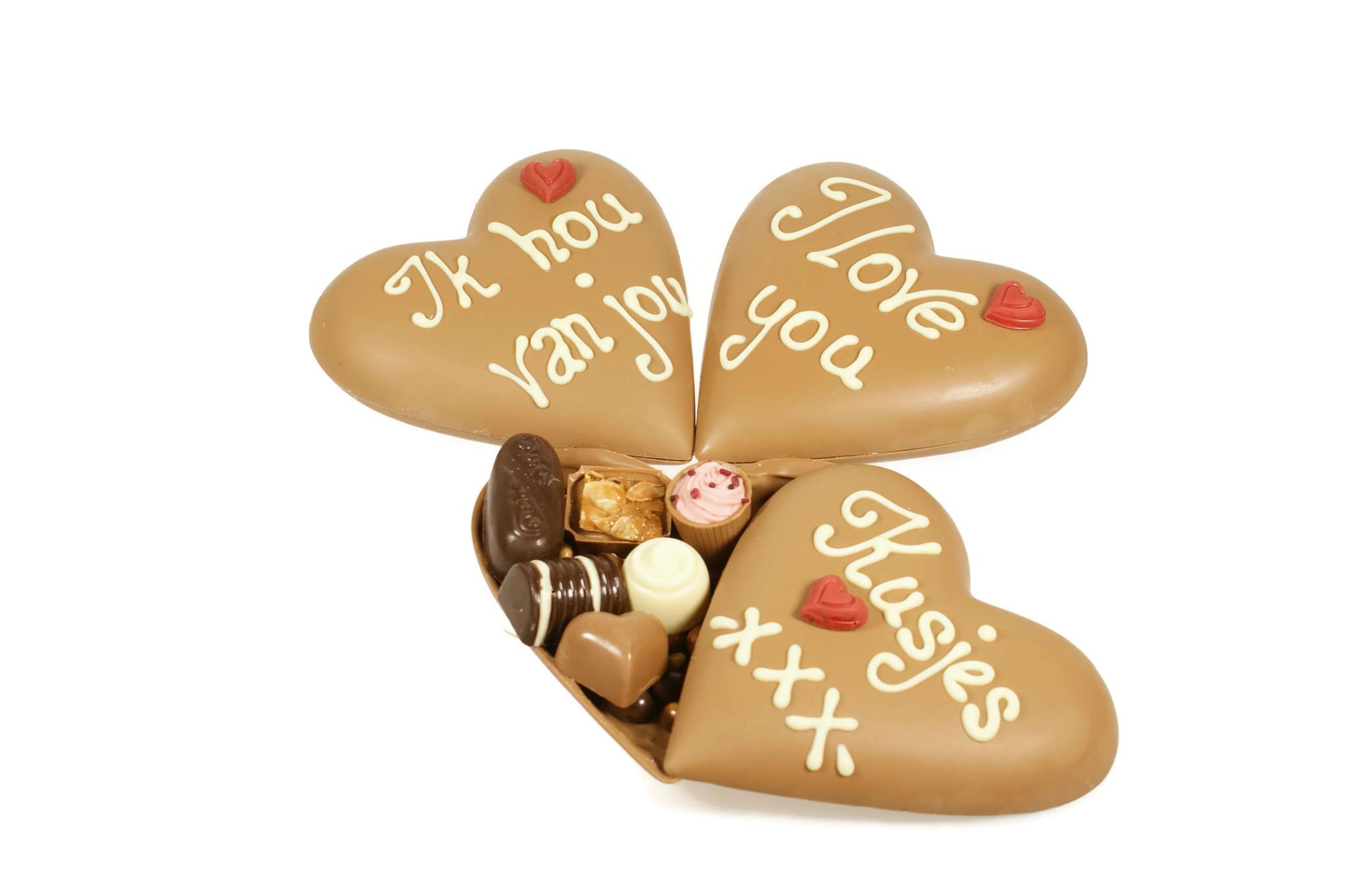 Valentijn chocoladehart voor je (stille) liefde