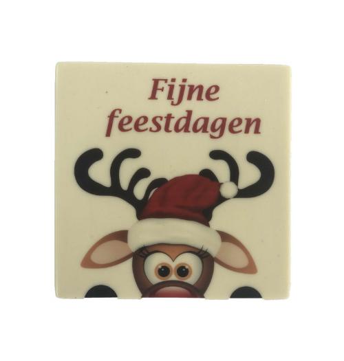 Chocoladetablet om Fijne feestdagen te wensen