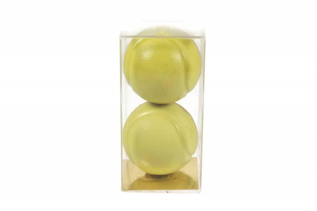 Chocolade tennisballen op ware grootte (2 stuks)