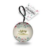 Gevulde metale kerstbal