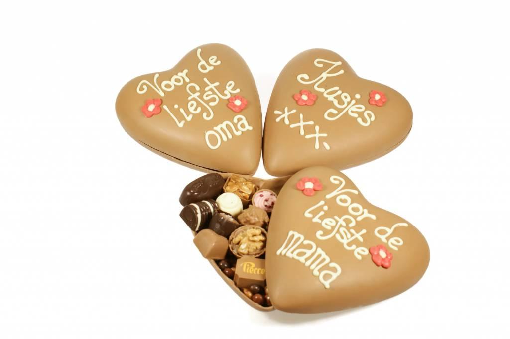 Een heerlijke chocolade Moederdaghart om van te smullen
